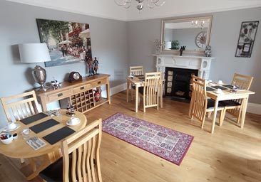 Dining room at Plas Tan y Graig B&B, Beddgelert, Snowdonia, North Wales