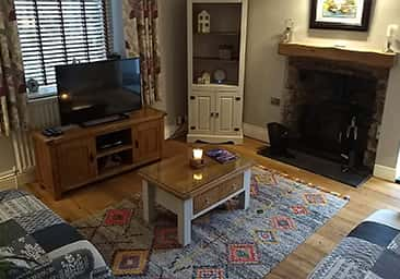 Guest TV lounge at Plas Tan y Graig B&B, Beddgelert, Snowdonia, North Wales